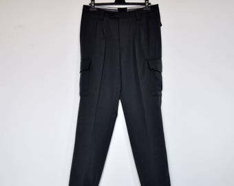 Vintage Working Trousers Grey Cargo Pants