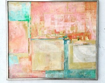 Abstract Joan Shapiro Oil on Canvas Signed