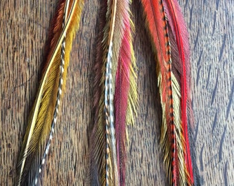 Feather Hair Extensions/ Hair Feathers/ Feather Hair Clip//Boho Feather Extensions/ Hippie Hair Accessories/ Festival Wear/ Girlfriend Gift