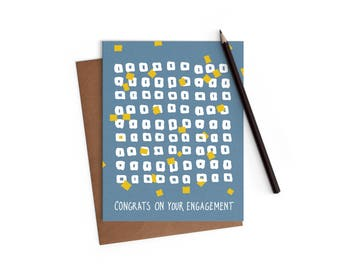 Congrats - Engagement Card - Funny Card - Digitally Printed A2 Cards w/ envelope