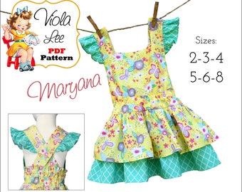 Maryana Girls Dress Pattern, Toddler Dress Pattern. Sewing Patterns for Girls. pdf Sewing patterns, Toddler Dresses, Pdf Instant Download