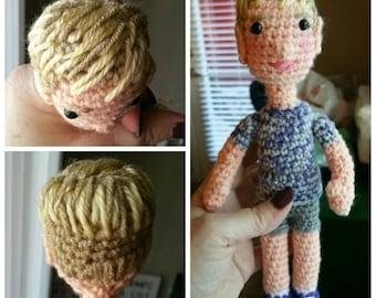 Order a customized yarn kiddo doll: 9 inches