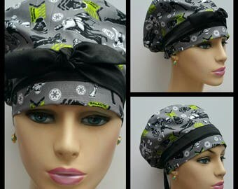 Woman Euro Surgical Cap - Star Wars - The Force Awakens - Gray - 100 % cotton