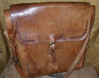 Heavy leather boho festival bag
