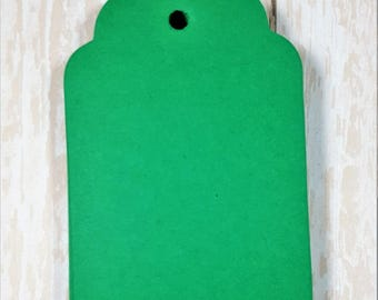 Green Scalloped large tags, Die Cut, Embellishment, Gift Tag, Party Favor Tag,Wish tree