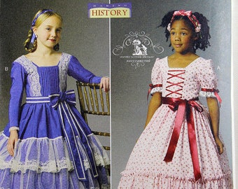 Butterick 5900, Child's Historical Costume Pattern, Child's Dress and Belt Pattern, Civil War Era Costume Pattern, Child's Sizes 2-5, Uncut