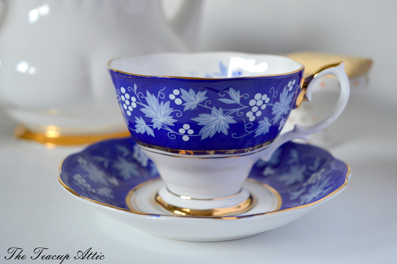 Royal Albert Chateau Series Dijon Teacup Set, English Bone China Tea Cup Set, Wedding Gift, Afternoon tea Party, ca. 1960-1970