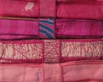12 Yards of Silk Trim, 4 colors, E68
