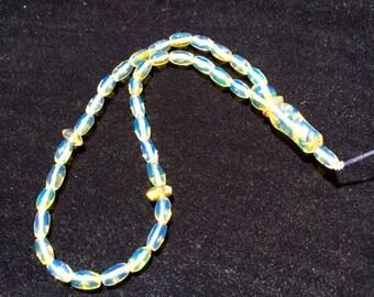 Beautiful Islamic Prayer Dominican Blue Amber Beads Misbaha 8 IN