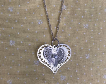 Dainty chain with heart & cz