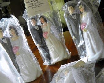 """1986 Bakery Crafts Bride & Groom--4-1/2"""" High x 2"""" Wide--New in Packaging--9 Available"""