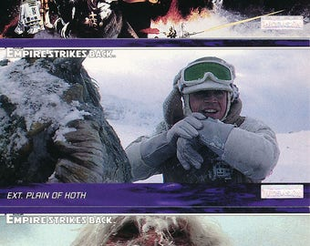 1995 Topps Star Wars Empire Strikes Back Wide Vision Trading Card Set