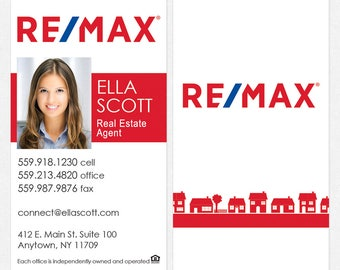 REMAX real estate deluxe business cards - thick, color both sides - FREE UPS ground shipping