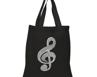 Small Tote Bag - Created using a List of the Most Popular Classical Music Composers of All Time Note
