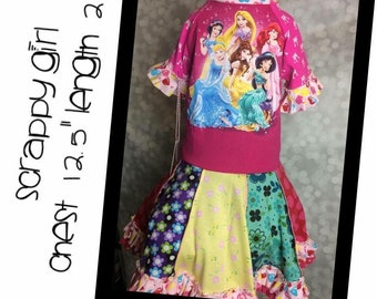 Scrappy Girl  Twirly Dress ~ princess ~ READY TO SHIP Size 5/6