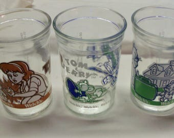 Set of 3 Tom & Jerry The Movie Welch's Jelly Glass
