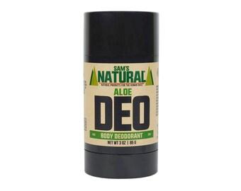 Sam's Natural - Aloe Natural Deodorant for Men - Gifts for Men - Natural, Vegan + Cruelty-Free