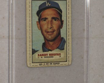 new just in 1966-67 Bazooka Sandy Koufax  awesome vg card in a screwdown case