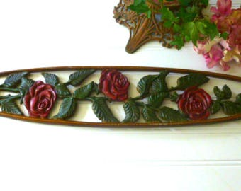 Summer Rose Metal Wall Art by Midwest Company,  Rose Wall Plaque  Wall Hanging