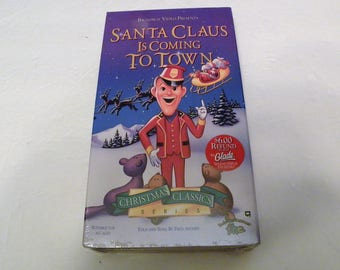 Santa Claus Is Coming to Town VHS Video Tape Fred Astaire Cartoon  NEW Factory Sealed
