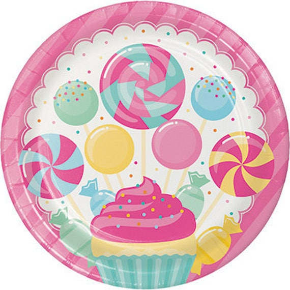 Il_570xn  sc 1 st  Catch My Party & Candy Bouquet Dinner Plates Candyland Party Paper Napkins Candy ...