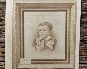 Original Antique CDV Photograph | Memorial Tribute