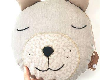 Meet Bruce. Bear Toy, Stuffed Bear, Pillow, Nursery Decor, Soft Toy, Kids Room Decor, Bear Cushion, Decorative Pillow