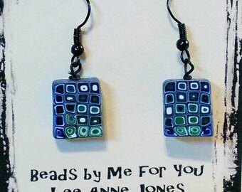 Handmade Blue and Green Earrings