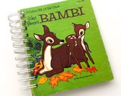 Bambi Mini Art Journal / Junk Journal / 30pc  Ephemera Pack / Smash Book / Pockets / Mid Century Book / Scrap Journal / Mixed Media / Disney