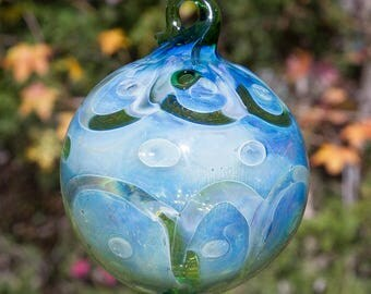 OOAK Hand blown Borosilicate Glass Christmas ornament 157