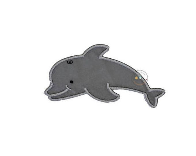 Gray Dolphin no sew applique