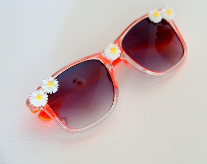 Orange daisy sunglasses