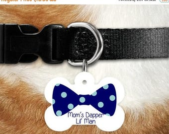 SALE Custom Pet Tag ~ Personalized Pet Tag ~ Bowtie Pet ID Tag ~ BowTie Pet Tag ~ Dapper Dog ~ Preppy Dog Tag ~ Dashing Gentleman, Gentleman