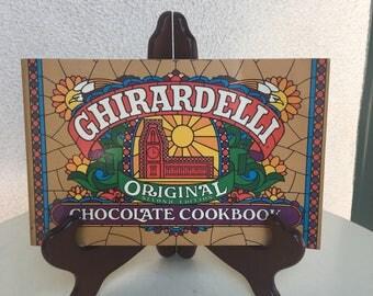 Vintage 1982 Ghirardelli Chocolate Cookbook Original Second edition paperback