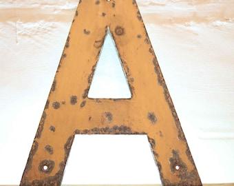 Vintage Letter A,  Alphabet, A, Wall Art