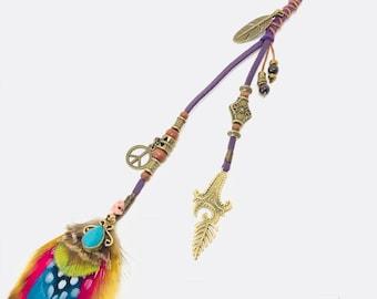 Purple Daze Kids Feather Hair Clip