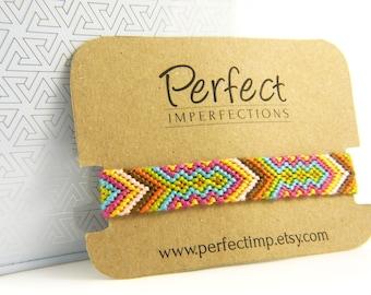 Tribal Friendship Bracelets / Handwoven Braided Bracelets Best Friend Gift / Native Aztec Geometric Jewelry / Stackable Bohemian Braclet