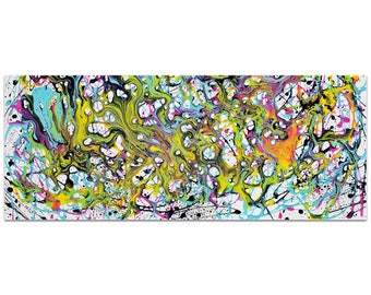 Abstract Wall Art 'Where Is My Mind' by Jamie Anton - Colorful Urban Decor Contemporary Color Layers Artwork on Metal or Plexiglass