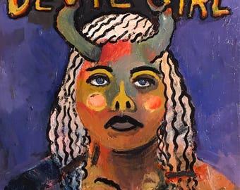 Devil Girl painting