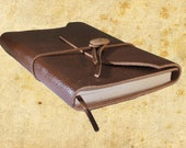 Hand Bound Brown Leather Journal or Sketchbook