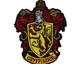 Harry Potter Gryffindor Patch Hogwarts House Badge Licensed Embroidered Iron On
