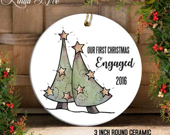 Engagement Gift for Couple Engagement Ornament Engagement Gifts for Best Friend Engagement Gifts Her First Christmas Engaged Ornament OCH31
