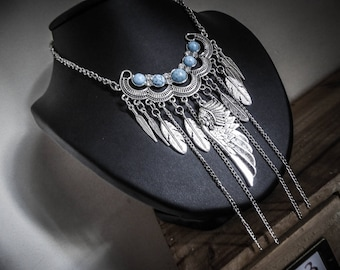 Necklace chains silver boho chic tribal Indian Spirit ♰ ♰