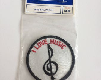 Vintage I love music patch