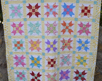 Homemade lap quilt or baby quilt  Sister's Choice pattern
