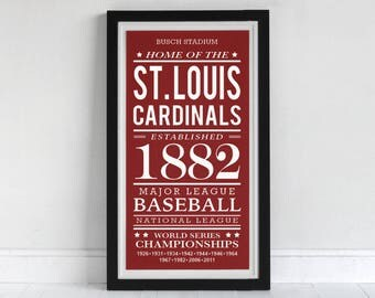 St. Louis Cardinals - Screen Printed Poster