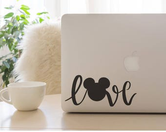 Mickey Love, Mickey Mouse, Disney Decal, Mickey Decal, Love Decal, Car Decal, Laptop Decal,  Mickey Mouse Love