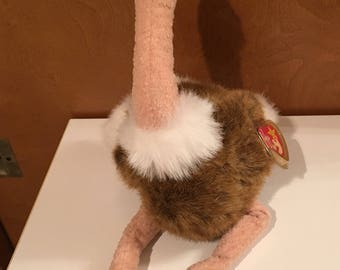 Stretch the Ostrich Beanie Buddy.
