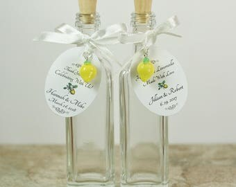 30 Limoncello Favors Limoncello Bottle Empty Glass Bottles 2 oz Limoncello Bottles Glass Bottle Corked Bottle