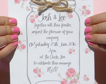 Rustic Wedding Wedding Invitation Suite including RSVP